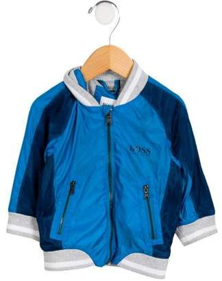 HUGO BOSS Boss by Boys' Athletic Zip Front Jacket