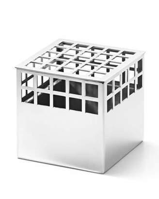 Georg Jensen Matrix Cube Mirror Stainless Steel Small Vase