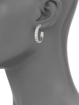 Charles Krypell Sterling Silver Hoop Earrings