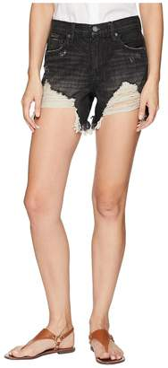 Blank NYC Cut Off Denim Shorts in Back On Track Women's Shorts