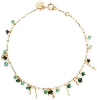 Sweet Pea Pogo Emerald Punk Bracelet - Yellow Gold