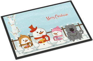 Caroline's Treasures Merry Christmas Carolers Chow Chow Doormat Mat