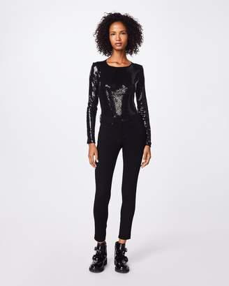 Nicole Miller Sequin Long Sleeve Bodysuit