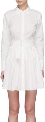 Nicholas Belted pleated shirt dress