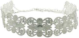 Lucy Ashton Jewellery - Silver Filigree Wide Choker Necklace