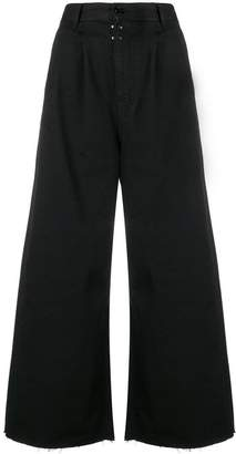 MM6 MAISON MARGIELA cropped palazzo pants