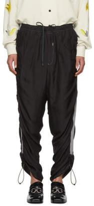 Toga Virilis Black Silk Lounge Pants