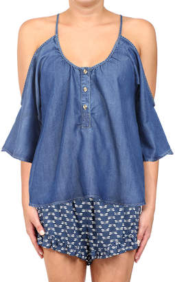 Glam Bahia Cold-Shoulder Top