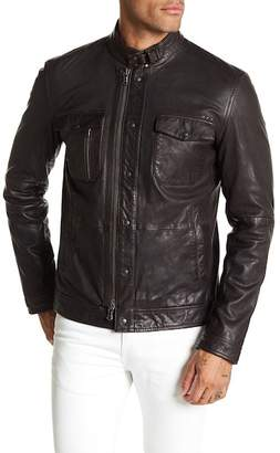 John Varvatos Collection Sheep Leather Field Jacket