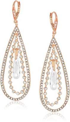 Anne Klein Women's Crystal Large Orbital Drop Earrings