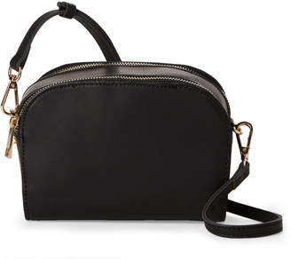 Street Level Black Camera Faux Leather Crossbody