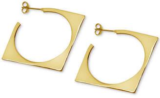 Essentials Square Hoop Earrings in Gold-Plate