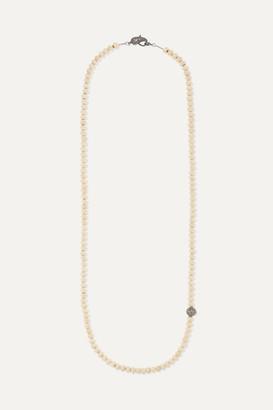 Loree Rodkin Bone, Oxidized Sterling Silver And Diamond Necklace