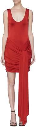 Galvan London 'Corona' ruched sash drape dress