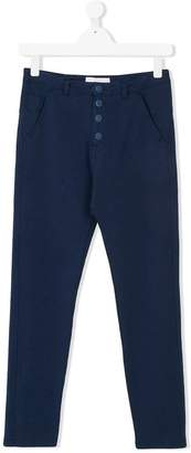 Officina 51 TEEN button tapered trousers