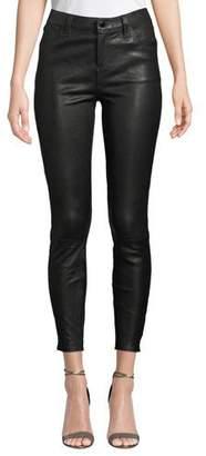 J Brand Alana High-Rise Crop Leather Skinny Pants