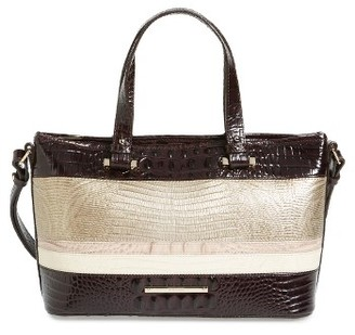 Brahmin Kapoor - Mini Asher Leather Tote - Beige $275 thestylecure.com