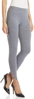 Jessica Simpson Grey Crisscross Cuff Leggings