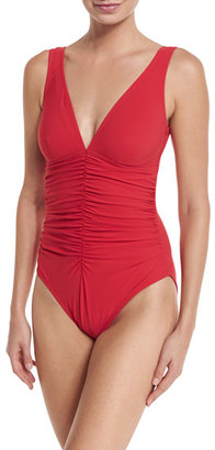 Karla Colletto Ruch-Front Underwire One-Piece, Black $283 thestylecure.com