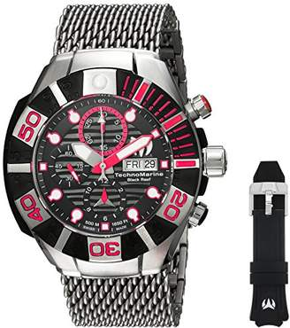Technomarine Men's 'Reef' Automatic Stainless Steel and Silicone Casual Watch
