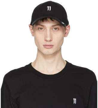 11 By Boris Bidjan Saberi Black and White New Era Edition Logo Cap