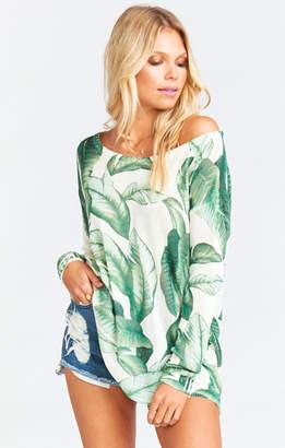 Show Me Your Mumu Ryan Rene Reversible Sweater ~ Palmtini Knit