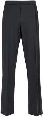 Valentino Side-striped wool-blend trousers