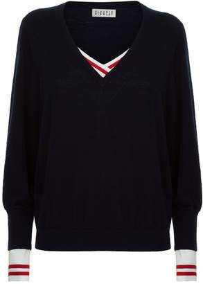 Claudie Pierlot Layered V-Neck Sweater