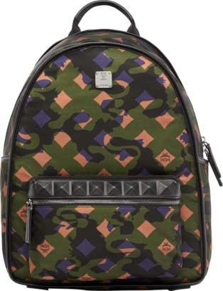 MCM Dieter Backpack In Munich Lion Camo Nylon