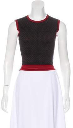 Alaia Sleeveless Jacquard Top