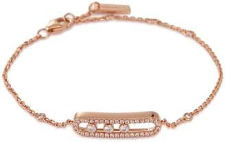 Möve Messika 'Baby Pavé' diamond 18k rose gold bracelet