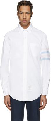 Thom Browne White Classic Four Bar Shirt $570 thestylecure.com