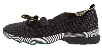 Fendi 2016 Ruffled Slip-On Sneakers