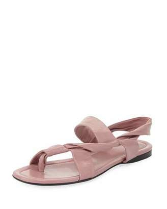 The Row Giada Leather Twisted Flat Sandal