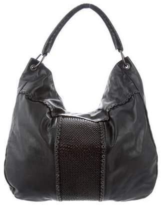 Bottega Veneta Embellished Leather Hobo