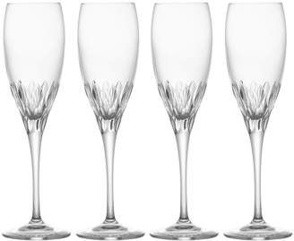 Mikasa Set of 4 Crystal Champagne Flute Glasses