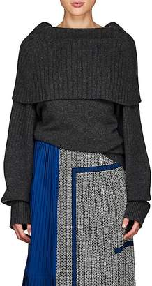 Givenchy Women's Foldover Mixed-Stitch Cashmere Sweater