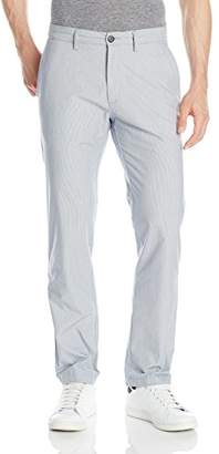 Haggar Men's LK Life Khaki Sustainable Striped Flat-Front Twill Chino Pant