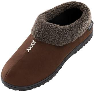 4fb4d4aa8f36 HomeTop Men s Cozy Memory Foam Slippers Fluffy Micro Suede Faux Fur Fleece  Lined House Shoes with