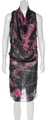AllSaints Embellished Midi Dress