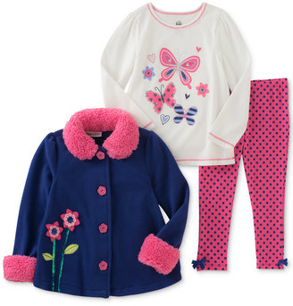 Kids Headquarters 3-Pc. Flower Jacket, T-Shirt & Leggings Set, Baby Girls (0-24 months) $50 thestylecure.com