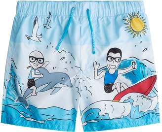 Dolce & Gabbana Surf Print Swim Shorts