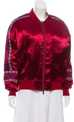 Rebecca Minkoff Embroidered Bomber Jacket