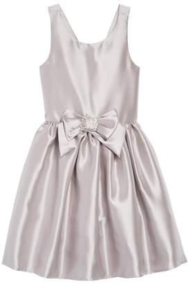 Zunie Satin Bow Dress