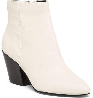 Pointy Toe Leather Booties