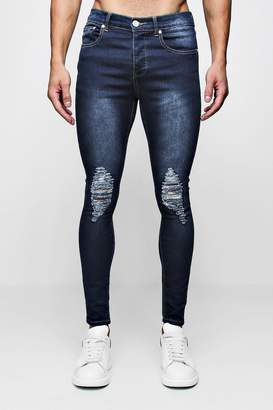boohoo Super Skinny Jeans with Heavily Distressed Knees