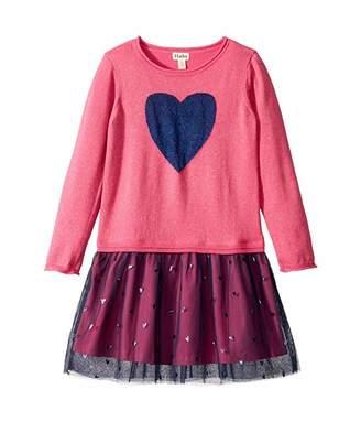 Hatley Shimmer Heart Drop Waist Tulle Dress (Toddler/Little Kids/Big Kids)