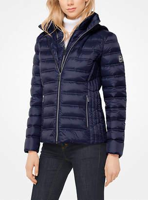 Michael Kors Layered Nylon Down Jacket