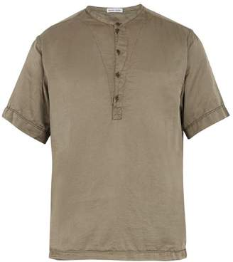 Tomas Maier Cotton And Silk Blend T Shirt - Mens - Khaki
