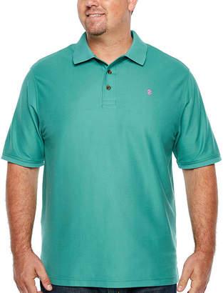 Izod Short Sleeve Natural Stretch Advantage Solid Pique Polo- Big & Tall